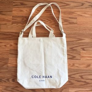 Cole Haan White Dual Strap Shopper Tote. One Size.